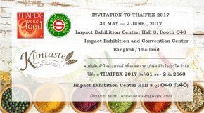 Invitation to THAIFEX 2017 31 May - 2 June 2017